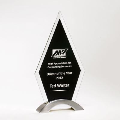 Picture of Diamond Series Black Glass Award