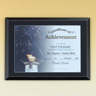 Picture of Black Gloss Certificate Plaque