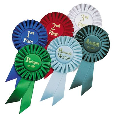 """Picture of Stock 6.5"""" Ribbon Rosettes"""