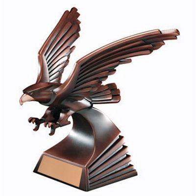 Picture of Modern Copper Eagle Sculpture