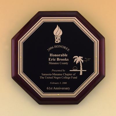 Picture of Octagon Rosewood Piano Finish Plaque