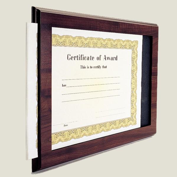 Midwest Awards Corporation. Slide-In Certificate Holder Plaque