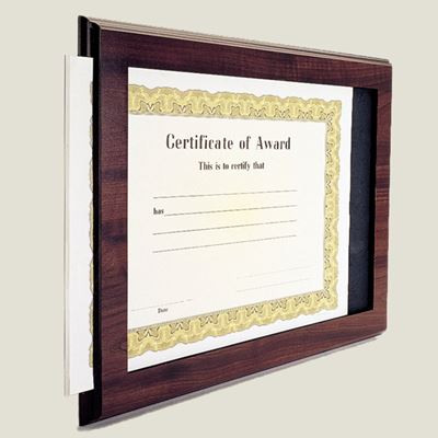 Picture of Slide-In Certificate Holder Plaque