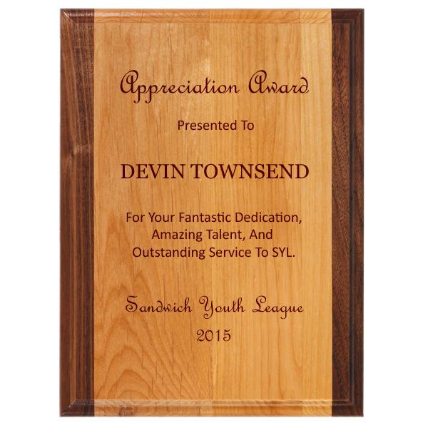 midwest awards corporation alder plus wood plaques