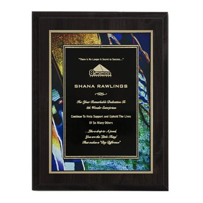 Picture of Black High Gloss Series Plaques (Multiple Colors)