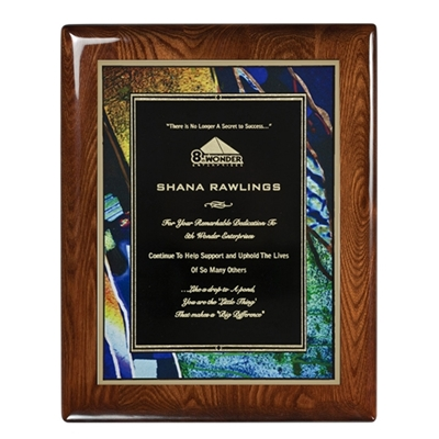 Picture of High Gloss Walnut Piano Finish Art Plaques (Multiple Colors)