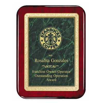 Picture of Marble Brass Rosewood Piano Finish Plaques