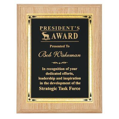 Picture of Oak Teardrop Series Plaques