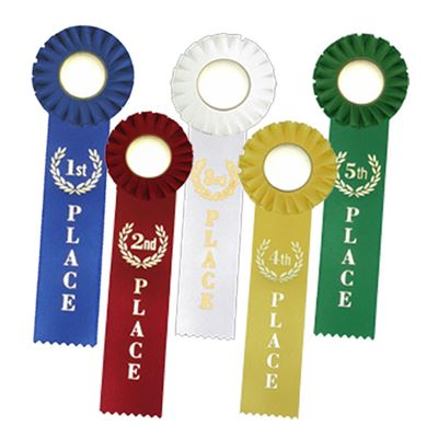 "Picture of Stock 10"" Single Streamer Ribbon Rosettes"