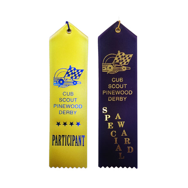 Picture Of Stock 2x8 Pinewood Derby Ribbons
