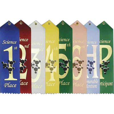 "Picture of Stock 2""x8"" Science Ribbons w/ Card"