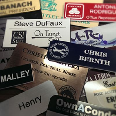 Picture of Custom Plastic Name Tags