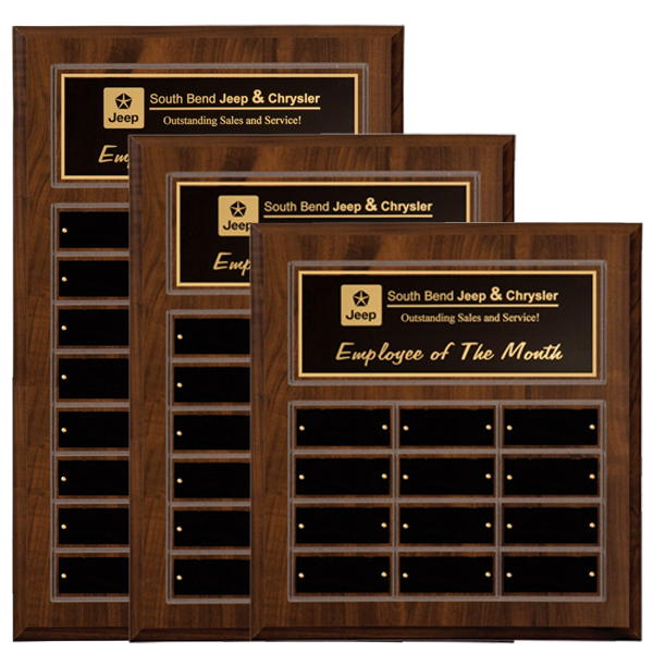 Cherry Finish Perpetual Plaques