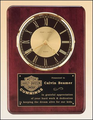 Picture of Diamond-Spun Bezel Rosewood Piano Finish Clock