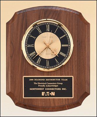 Picture of Diamond Spun Bezel Genuine Natural Walnut Wall Clock