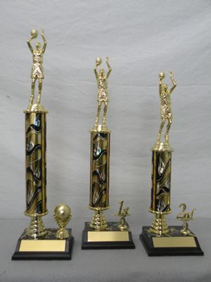 Picture of NSS Column Trophies - Gold Flames