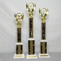 Picture of LG1 Column Trophies - Black Marble Lightning