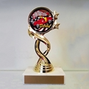 Picture of Gold Twisted Pinewood Derby Trophy