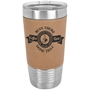 20 Oz. Leatherette Tumbler in Light Brown
