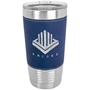 20 Oz. Leatherette Tumbler in Blue & Silver