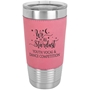 20 Oz. Leatherette Tumbler in Pink