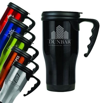 Gloss Finish 14 oz. Travel Mugs with Handle