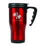 Gloss Finish 14 oz. Travel Mugs with Handle - Red