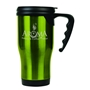 Gloss Finish 14 oz. Travel Mugs with Handle - Green