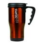 Gloss Finish 14 oz. Travel Mugs with Handle - Orange