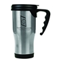 Gloss Finish 14 oz. Travel Mugs with Handle - Silver