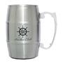 17 oz. Barrel Mug with Handle - Silver