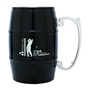 17 oz. Barrel Mug with Handle - Black