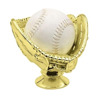 Gold Ball Glove Holder, Softball [+$2.00]