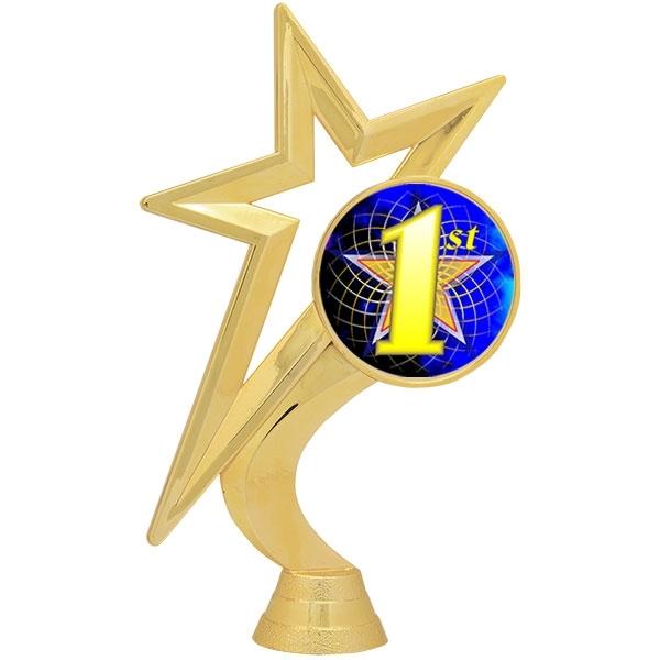 Gold Star Figure - Mylar Holder - 1st Place [+$1.50]