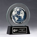BC1039 Glass Clock with World Dial