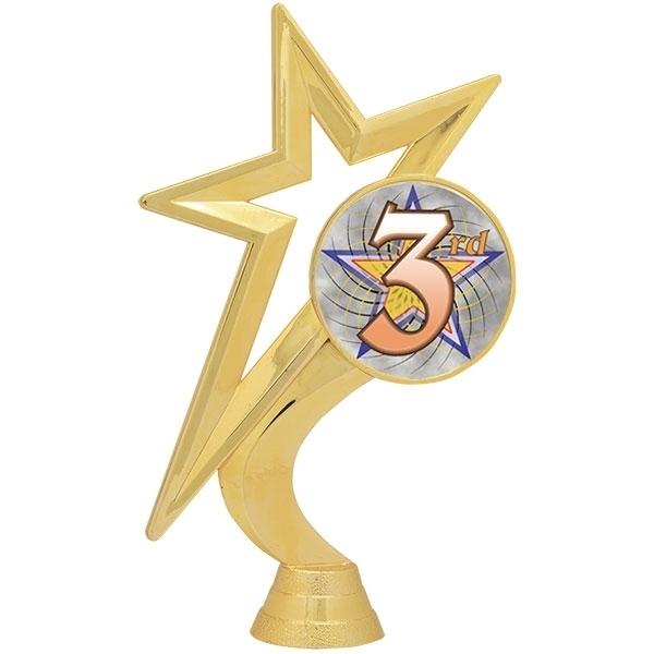Gold Star Figure - Mylar Holder - 3rd Place [+$1.50]