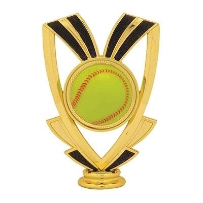 Ribbon Figure - Softball [+$0.50]