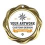Fusion Disc Holder Medal - Antique Gold