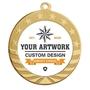 StarBrite Disc Holder Medal - Bright Gold