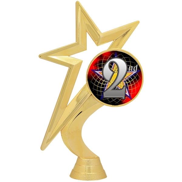 Gold Star Figure - Mylar Holder - 2nd Place [+$1.50]