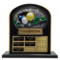 Upright Perpetual Plaque - Billiards/Pool