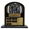 Upright Perpetual Plaque - Football