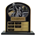 Upright Perpetual Plaque - Volleyball, Female