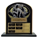 Upright Perpetual Plaque - Wrestling