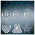 Picture of Clear Glass Holiday Ornaments