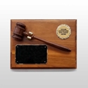 Picture of Walnut Gavel Mount Plaque