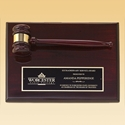 Picture of Rosewood Stained Piano Finish Gavel Plaque