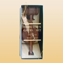 """Picture of Walnut 10"""" Gavel Gift Set"""