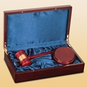 Picture of Rosewood Piano Finish Directors Gavel Set